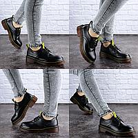 Женские туфли на каблуке черные Ron 1949 Размер 36 - 23 см по стельке, обувь женская