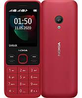 """Мобильный телефон Nokia 150 2020 Red; 2.4"""" (160х120) TFT / клавиатурный моноблок / ОЗУ 4 МБ / 4 МБ встроенной + microSD до 32 ГБ / камера 0.3 Мп / 2G"""