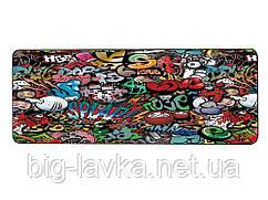 Игровая поверхность, большой коврик для мышки игровой Граффити 40 х 90 см  Paint