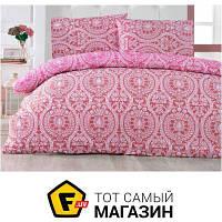 Комплект постельного белья полуторный 160x220 см хлопок бордовый Arya Ранфорс Sone, полуторный (TR1003823)