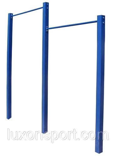 """Спортивно - гимнастическое обрудование """"Турник двойной с металическими стойками"""""""