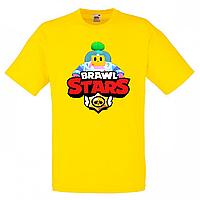 Футболка детская Бравл Старс Спраут (Brawl Stars Sprout ) желтая