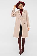 Пальто прямое бежевое