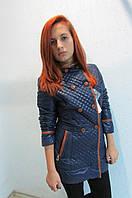 Куртка  женская SODISALLY 07322 синяя  код 611а