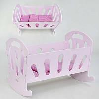 Детская Кровать деревянная для куклы (Baby Born)