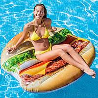 Пляжный надувной матрас Intex 58780 «Гамбургер», серия «Фастфуд», 145 х 142 см