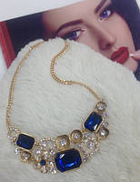 Ювелирная бижутерия Вечернее колье Xuping с синими кристаллами