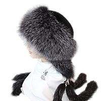 Меховая зимняя б/ф шапка женская