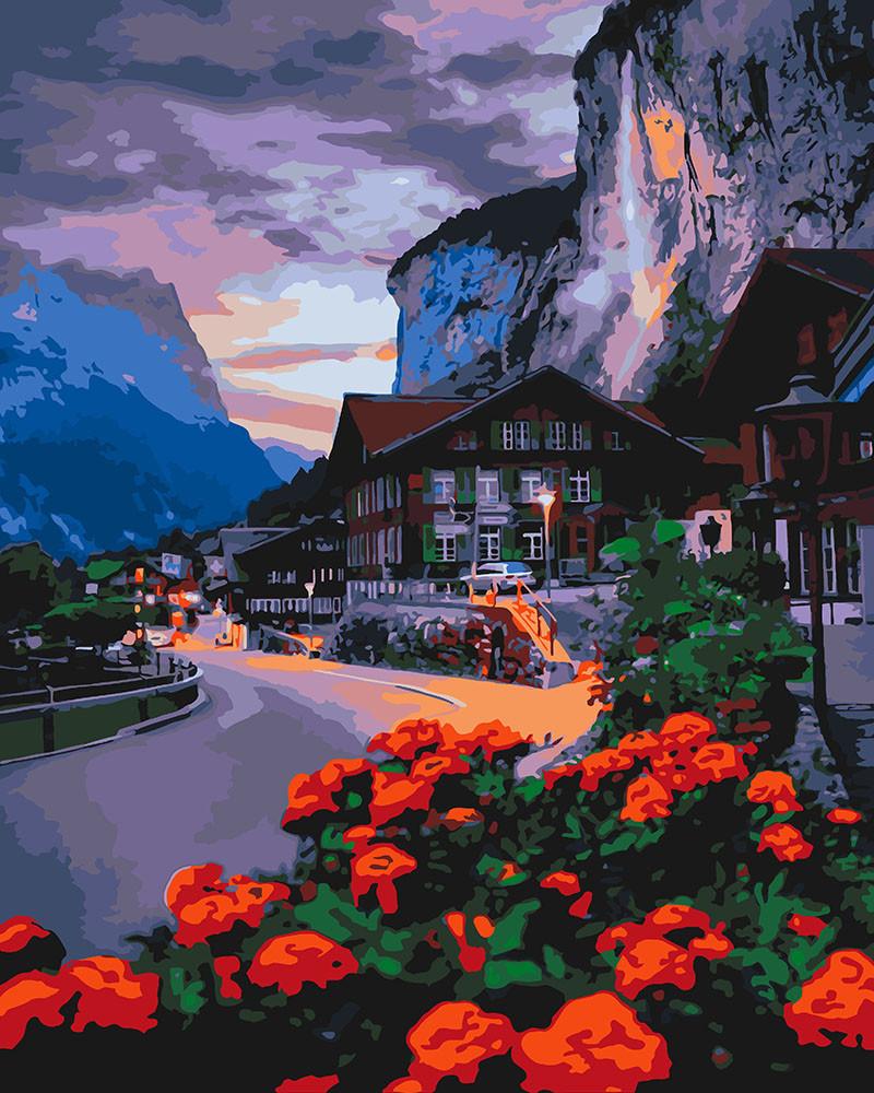 Картина по номерам Идейка Лето в Швейцарии 40*50 см (в коробке) арт.KH2262