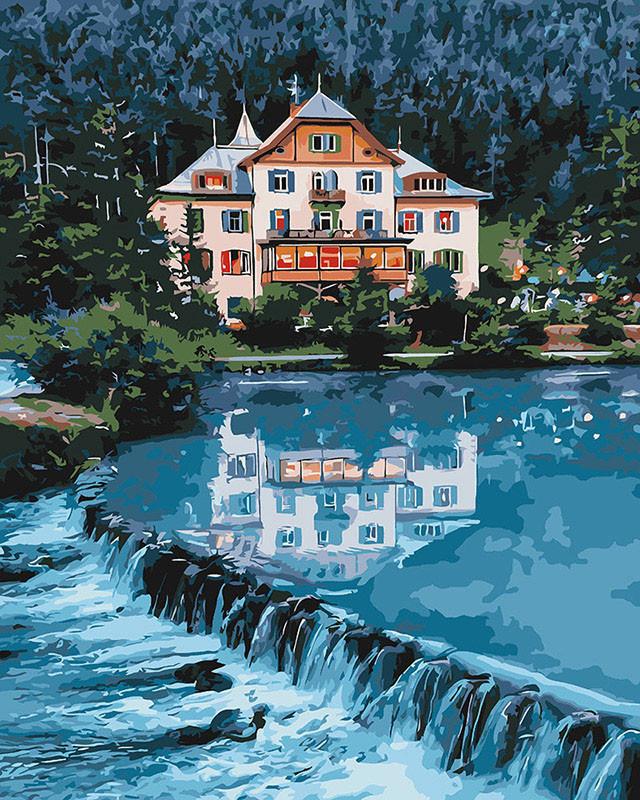 Картина по номерам Идейка Дом мечты 40*50 см (в коробке) арт.KH2267