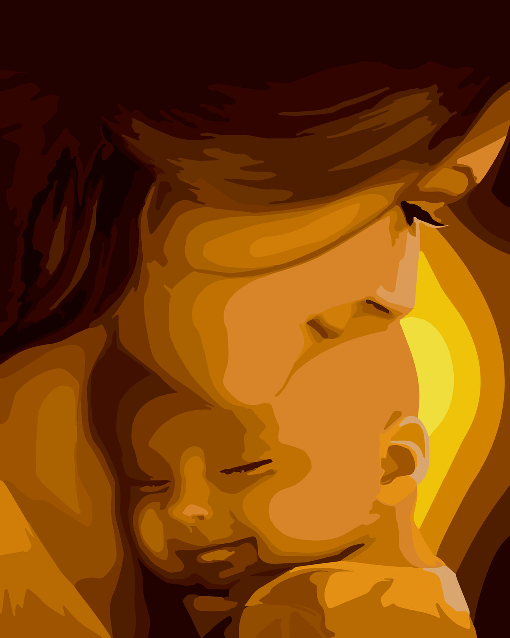Картина за номерами Ідейка Мамине щастя 40*50 см арт.KH2308
