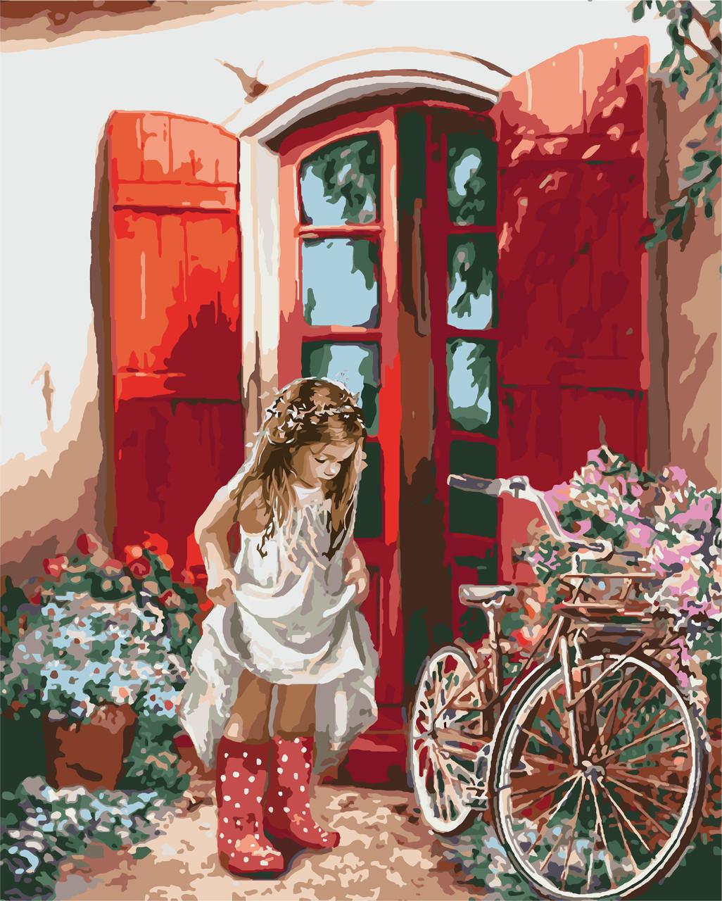 Картина за номерами Ідейка Маленька принцеса 40*50 см арт.KH2324