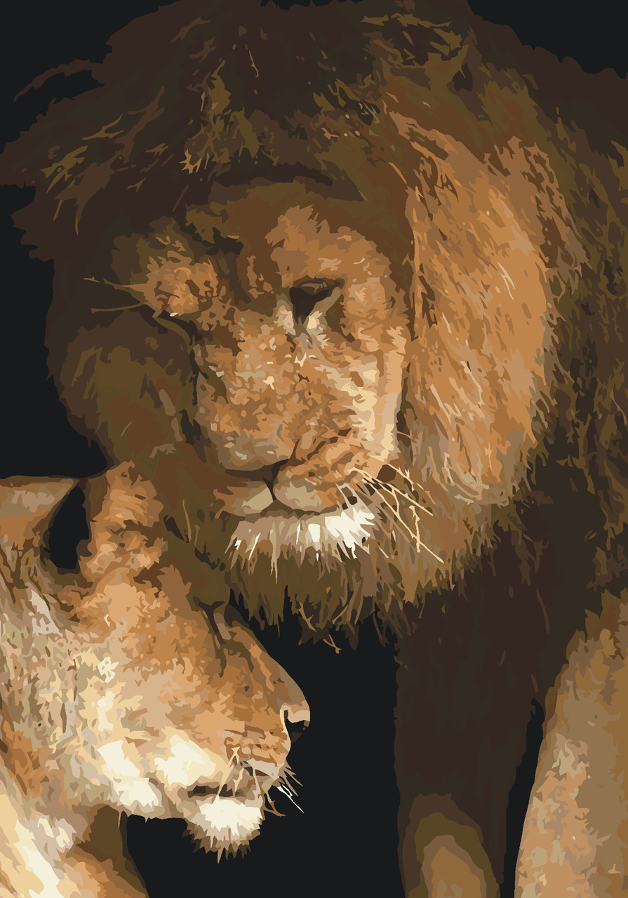 Картина за номерами Ідейка Сила любові 40*50 см арт.KH2489