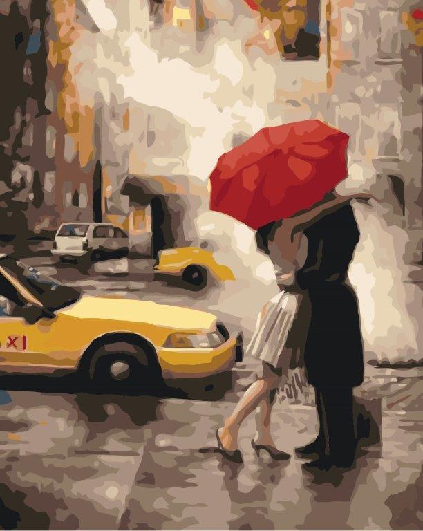 Картина за номерами Ідейка Під парасолькою щастя 40*50 см арт.KH2657