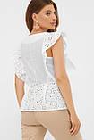 Летняя хлопковая блуза в белом цвете Илари, фото 3