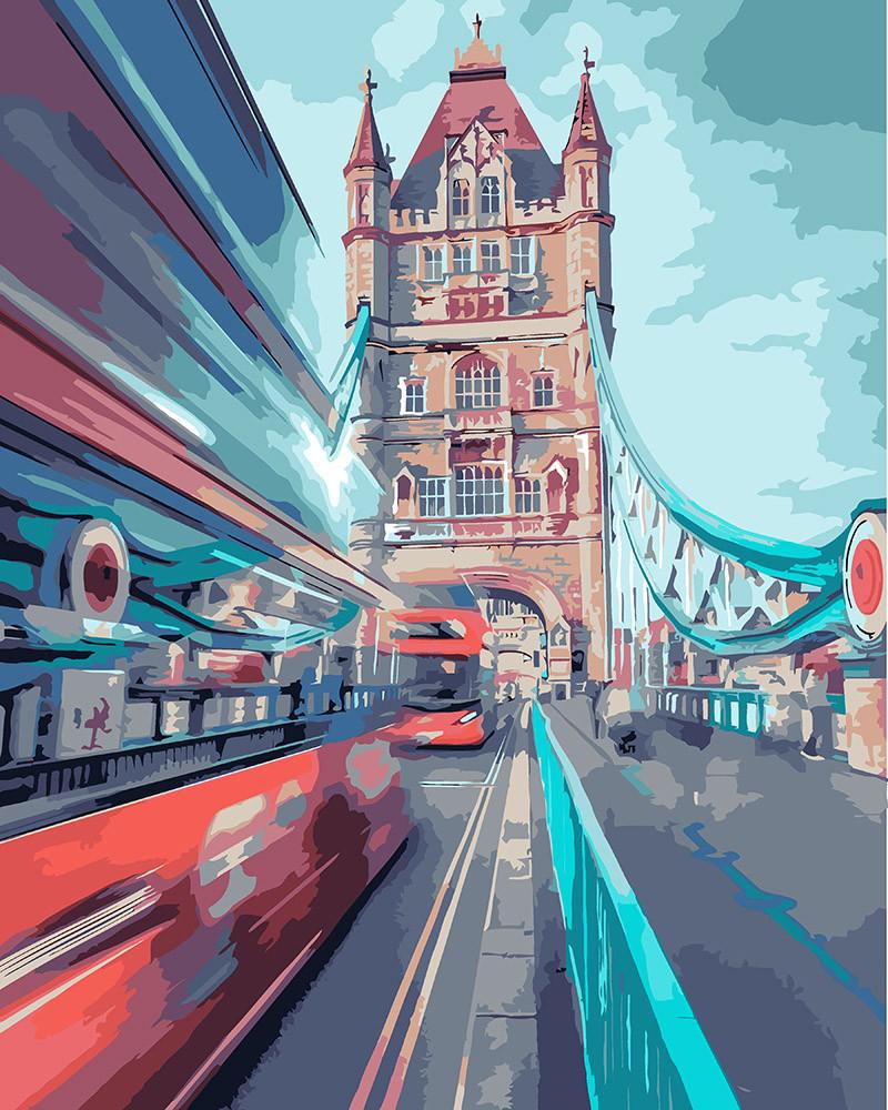 Картина за номерами Ідейка Динамічний Лондон 40*50 см арт.KH3570