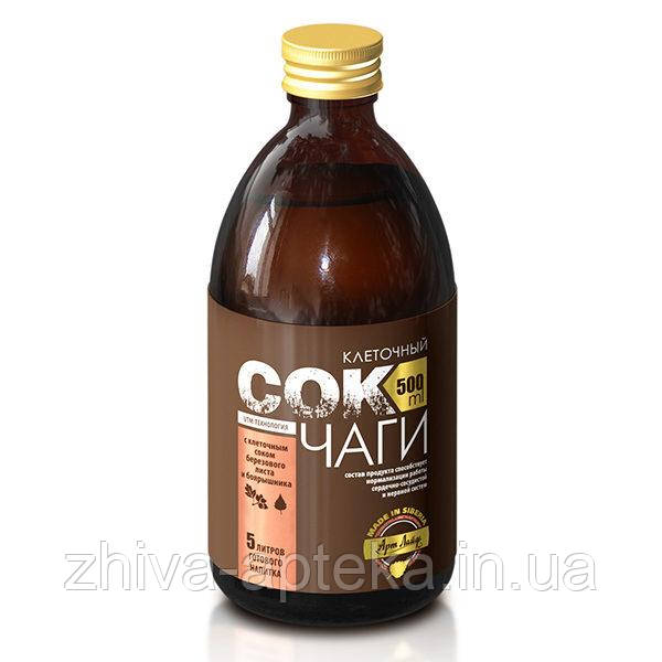 Клеточный сок Чаги с соком березового листа и боярышника