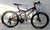 Горный двухподвесный велосипед Azimut Dinamic 26 черно-красный   на 85% собран.в кор + 2 ПОДАРКА!!!!