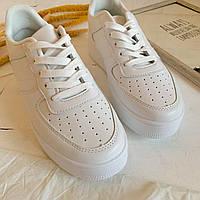 Белые модные кроссовки на толстой подошве, фото 1