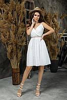 Нарядное женское летнее платье белый