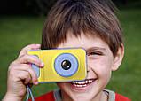 Детский цифровой фотоаппарат фотокамера Smart Kids Camera V7 желто-голубой, фото 2