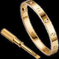 Браслет Cartier Love с гравировкой и отверткой