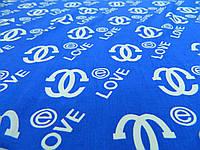 "Ткань штапель цвета электрик ""Love"", фото 1"