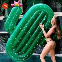 Надувной матрас кактус. Для пляжа бассейна и вечеринок. Размер 180*145 см.