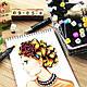 Набор 48 цветов двусторонних маркеров Touch для рисования и скетчинга на спиртовой основе 48 штук, фото 7