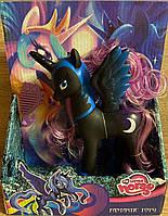 Игровая фигурка черная лошадка, пони, единорог, пегас Луна из м/ф Май литтл пони, аналог