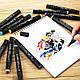 Набор двусторонних маркеров Touch для рисования и скетчинга на спиртовой основе 36 штук, фото 4