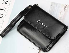 Женский кошелек портмоне на кнопке BAELLERRY Young Small Черный