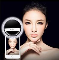 Светодиодное селфи кольцо Selfie Ring Light с USB зарядкой Черный