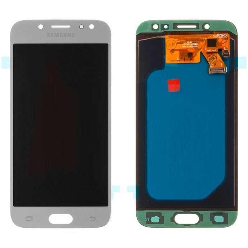 Дисплей Samsung J530H / J5-2017 + touch Silver Copy