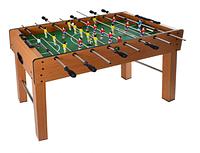 Футбол настольный 1019A в деревянном корпусе, на ножках | По 4 штанги у каждого игрока | 122х60х80 см 11/75.7