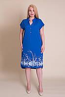 Жіноче літнє плаття електрик великий розмір. Оптом і роздріб. Розмір 52,, фото 1