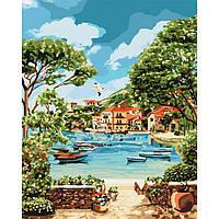 Картина по номерам на холсте Отдых в бухте (КНО2738) 40х50 Идейка