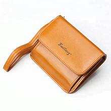 Женский кошелек портмоне на кнопке BAELLERRY Young Small Коричневый