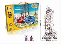 Электромеханический конструктор LoZ 2028 Amusement Park Roller Coaster 785 деталей