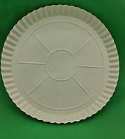 Паперова тарілка під піцу 370мм біла (100 шт)