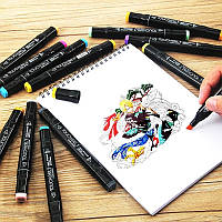 Набор двусторонних маркеров Touch 36 штук  для рисования и скетчинга на спиртовой основе