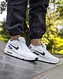 Кросівки чоловічі NIKE AIR MAX 90 білі М0159, фото 9