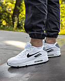 Кросівки чоловічі NIKE AIR MAX 90 білі М0159, фото 7