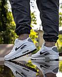 Кросівки чоловічі NIKE AIR MAX 90 білі М0159, фото 8