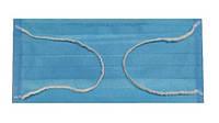 Маска трёхслойная защитная для лица с фиксатором для носа голубая от 1000 шт