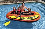 Лодка 2-х местная 211х117х41 нагрузка 186 кг с веслами и насосом  Intex 58332 Explorer 300 Set, фото 2