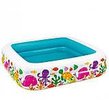 Детский надувной бассейн 157х157х122 с ручным насосом и подстилкой Intex 57470, фото 5