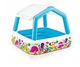 Детский надувной бассейн 157х157х122 с ручным насосом и подстилкой Intex 57470, фото 6