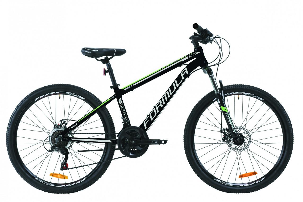 """Велосипед горный 26"""" Formula Thor 1.0 2020 алюминиевая рама 18"""", черно-зеленый"""