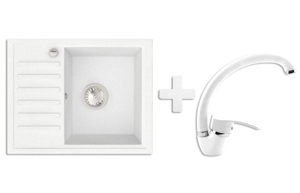 Кухонна мийка VALENTINA Gr Master білий + Кран